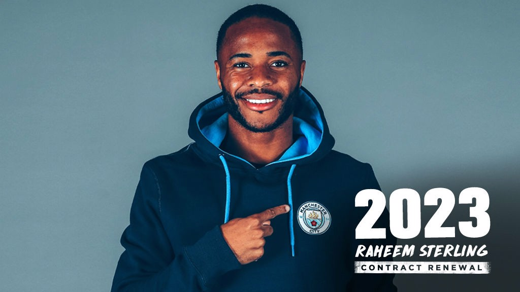 In Focus Raheem Sterling Signs New Deal Manchester City Fc