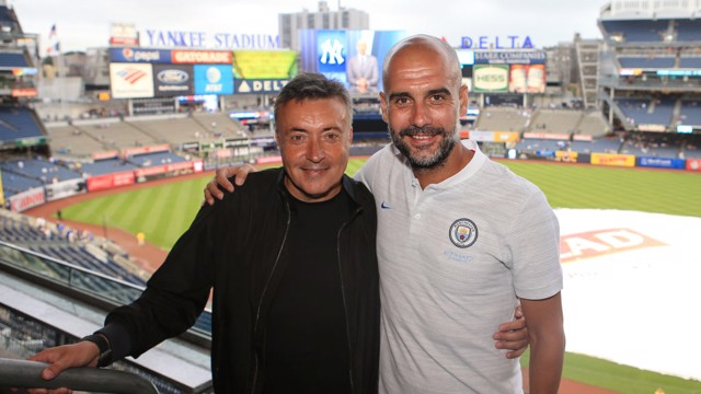Domènec Torrent y Pep Guardiola.