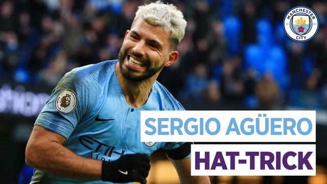 El hat-trick de Agüero contra el Chelsea.