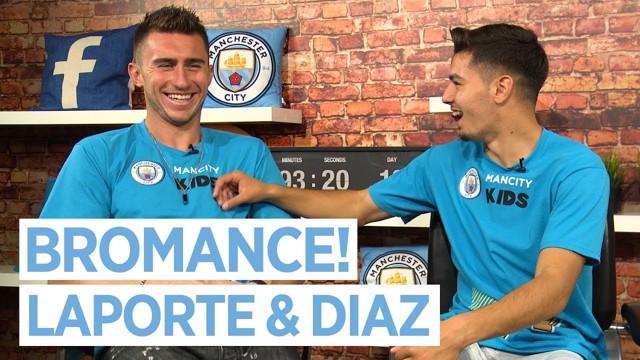 El 'bromance' entre Laporte y Díaz.