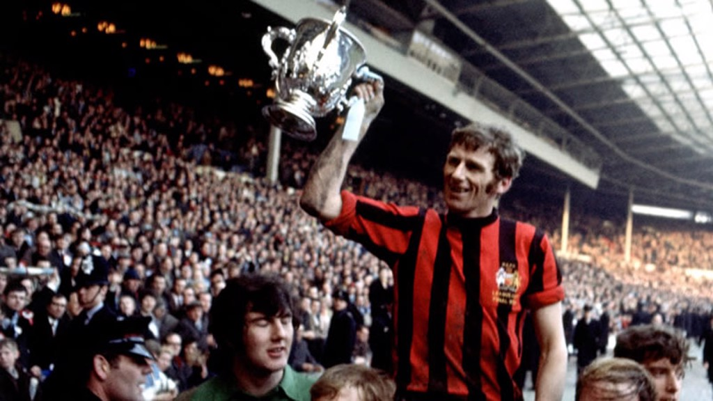 Tony Book with FA Cup
