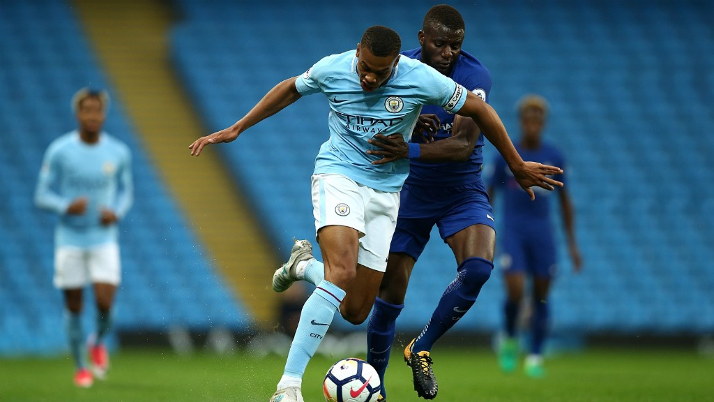 ACTION SHOT: City EDS battle it out at the Etihad Stadium