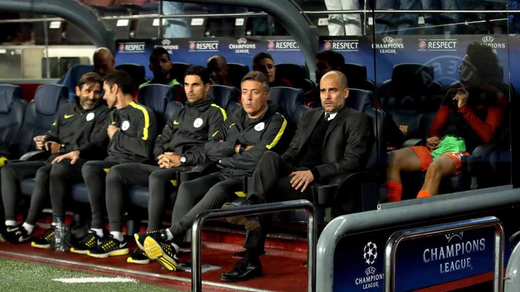 PEP - Guardiola watches from the bench