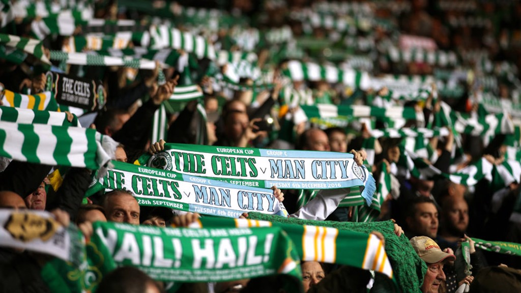 SCARVES: Fans from both teams show their support