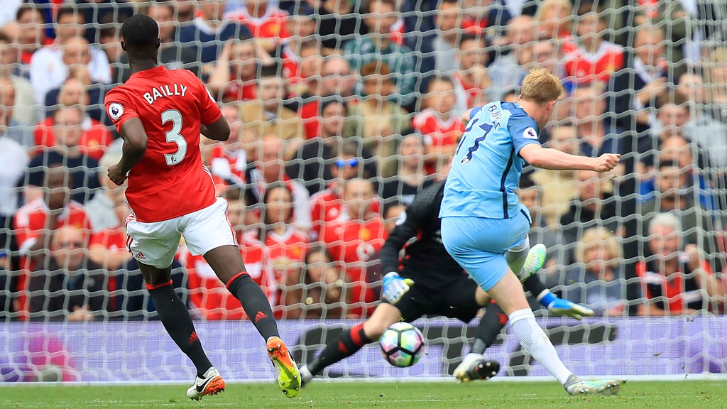 KEVIN DE BRUYNE: Scores the first goal of the match