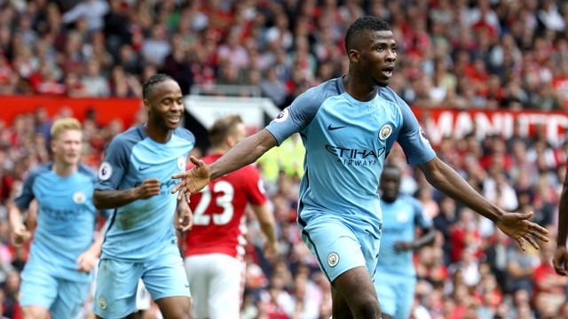 KELECHI IHEANACHO: Celebrates his goal