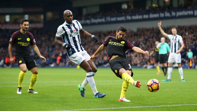 OFFSIDE: Nolito thinks he's grabbed the opener but it's disallowed