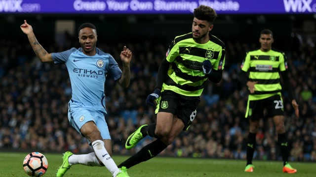 MIDFIELD BATTLE: Raheem Sterling and Philip Billing battle for the ball.