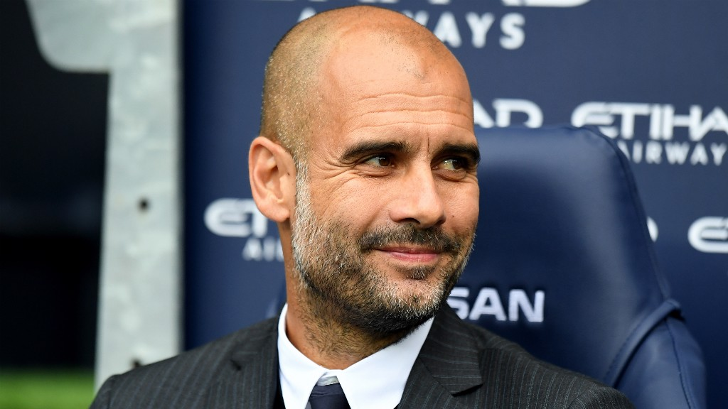 PERFECT START: Guardiola's first competitive English fixture ended in victory, as City left it late to defeat Sunderland 2-1, before embarking on a ten-game winning streak