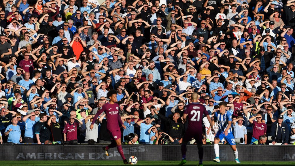 SUNNY DOWN SOUTH: The City fans needed their sunglasses in the away end!