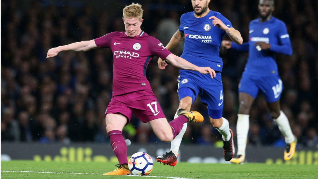 GOAL STRIKE: Kevin De Bruyne gives the City the lead with a stunning solo effort