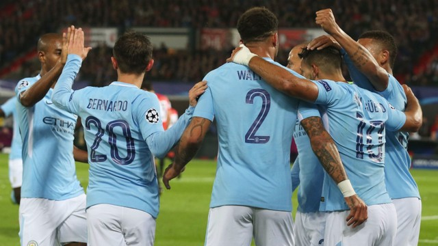 TOGETHER: The team congratulate each other on an excellent move in the build-up