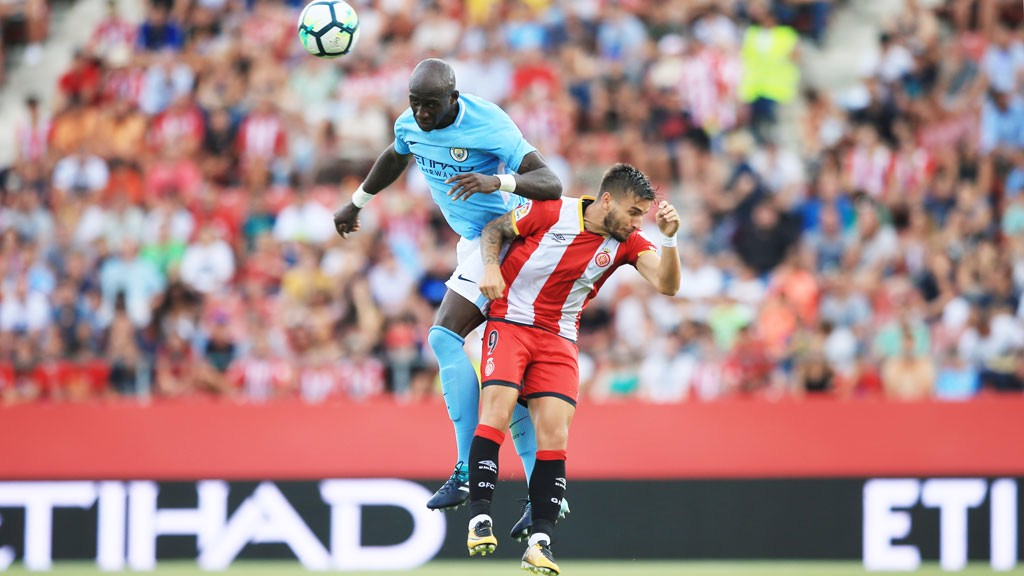 TOP PERFORMANCE: Eliaquim Mangala has an incredible display against Girona