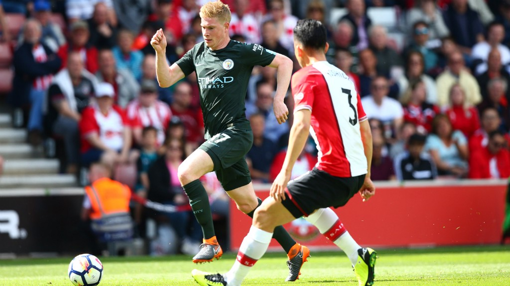 BELGIAN BLUE: Kevin De Bruyne on the move