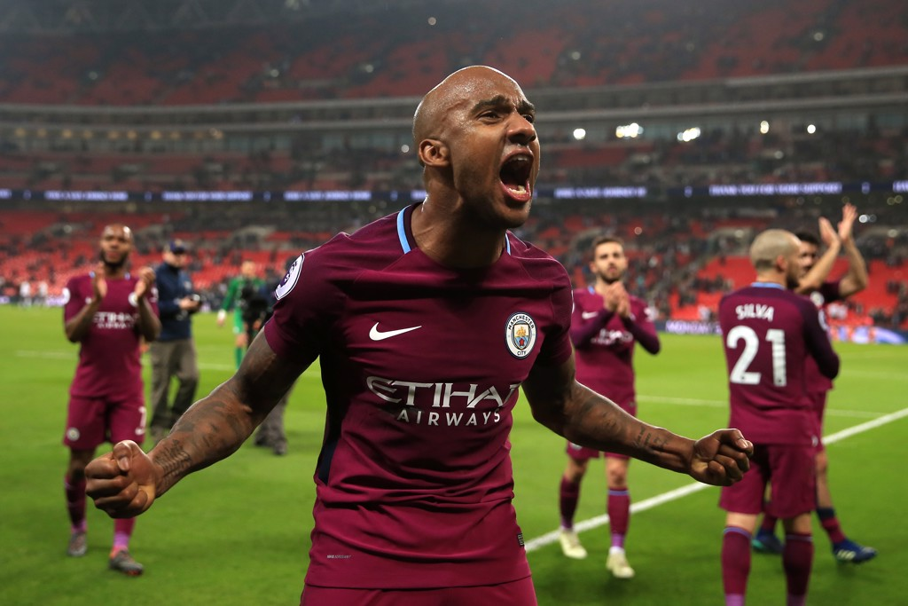 YES: Fabian Delph can't hide his delight