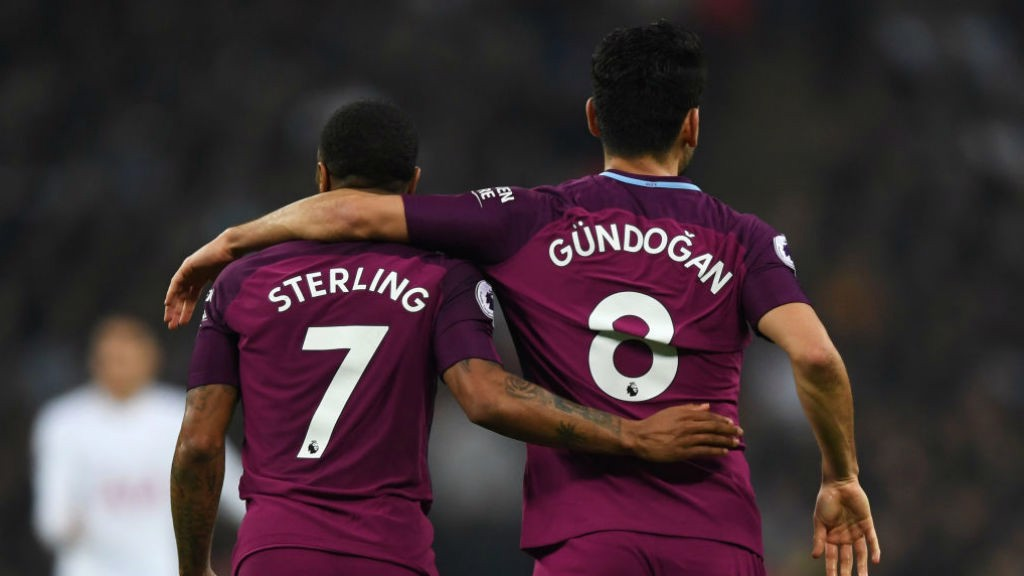 ARM IN ARM: Sterling and Gundogan