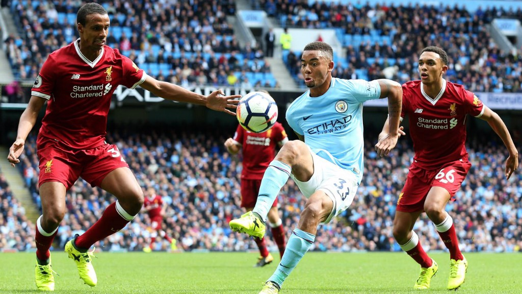 CONTROL: Gabriel Jesus brings the ball down