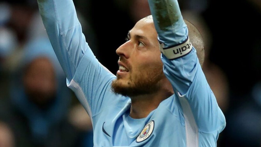 LATE SHOW: David Silva points to the skies in elation