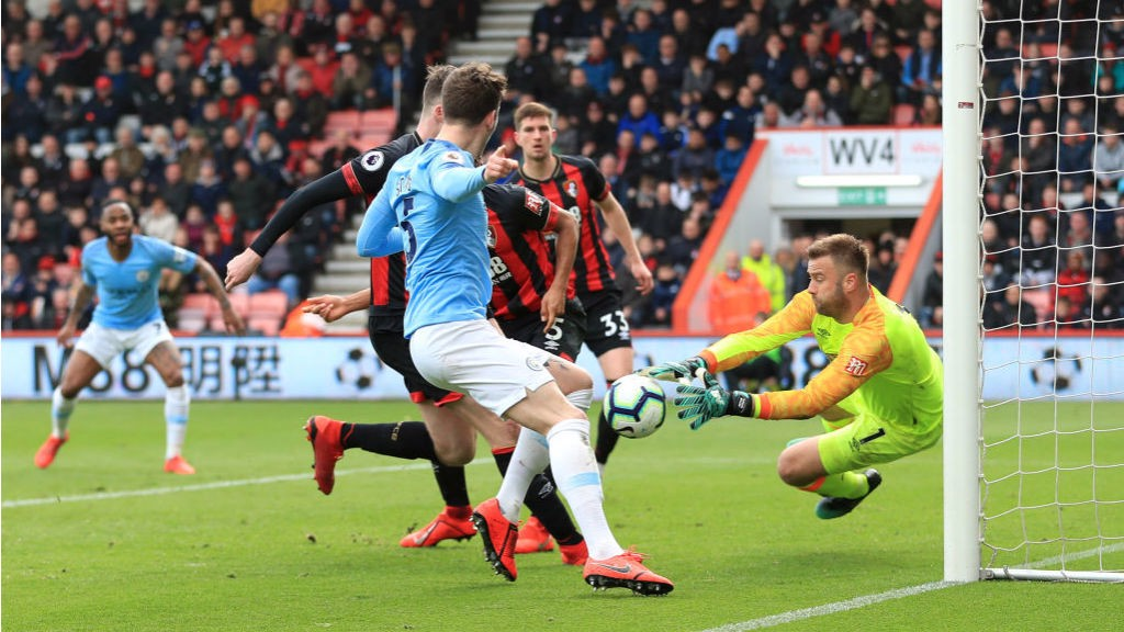CLOSE CALL: Cherries keeper Artur Boric dives to snuff out a Blues attack