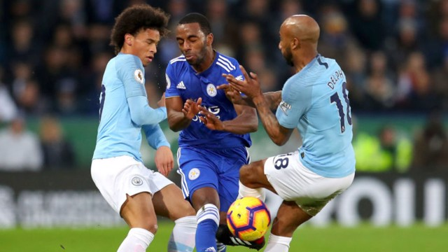 STOP START: Fabian Delph and Leroy Sane put the squeeze on Ricardo