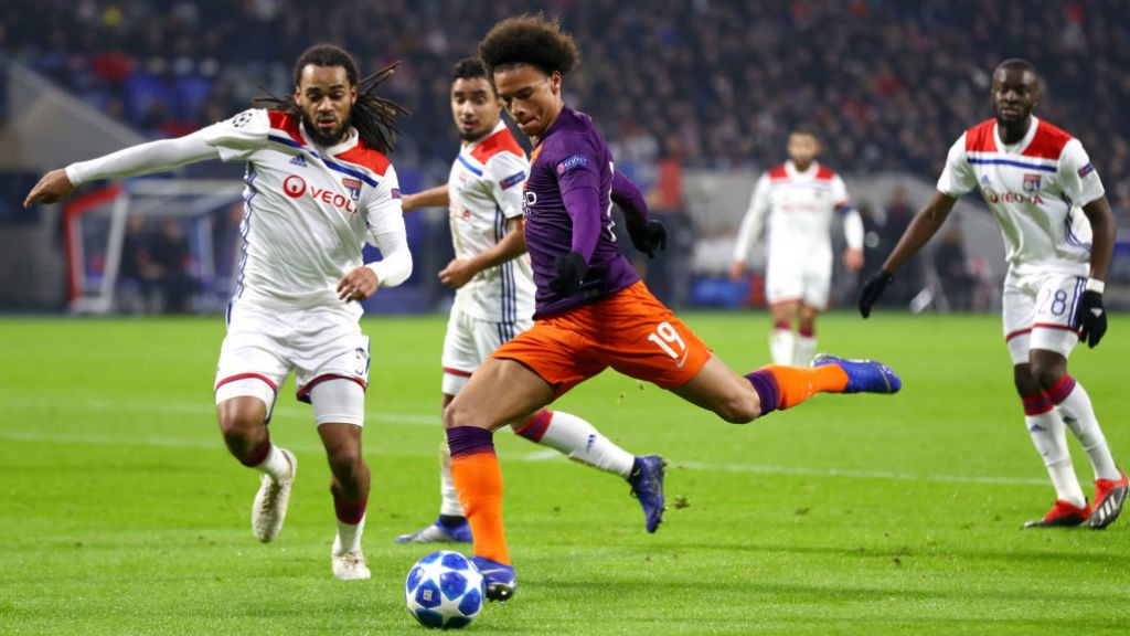 BY THE LEFT: Leroy Sane fires in a shot