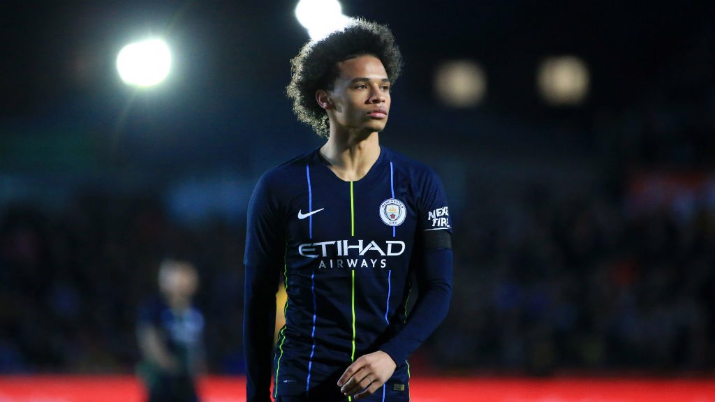 CLOSE UP: Leroy Sane in focus.