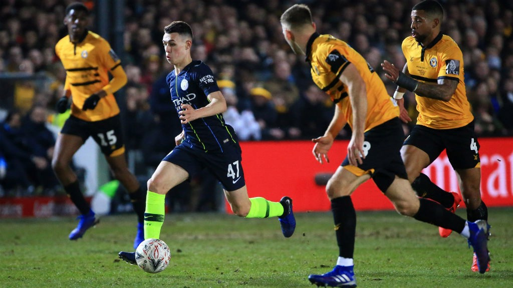 YOUNG GUN: Phil Foden continues to impress.