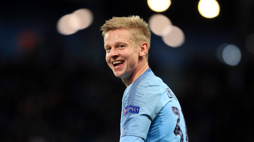 ALL SMILES: Former Shakhtar youth player Zinchenko enjoyed the evening