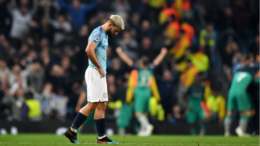 HEARTBREAK: Sergio's expression at full-time sums up the feelings
