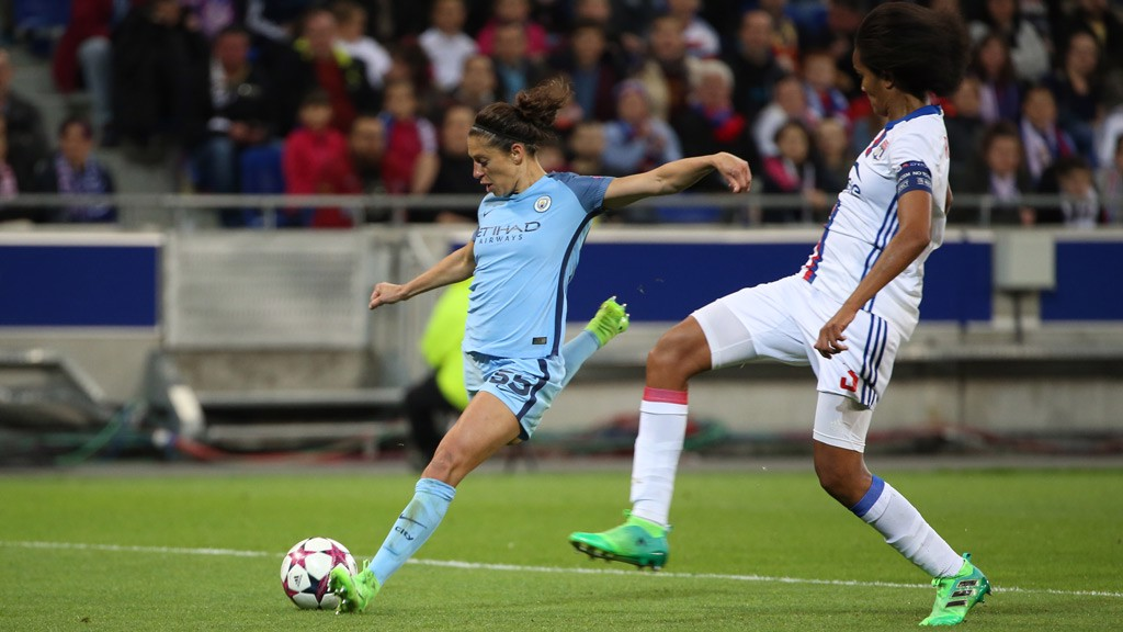 STRIKE: Carli Lloyd breaks the deadlock with a thunderous effort