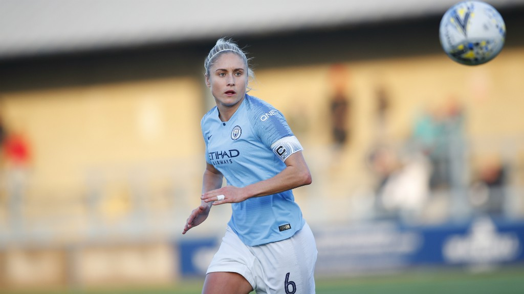 SKIPPER: Steph Houghton in action