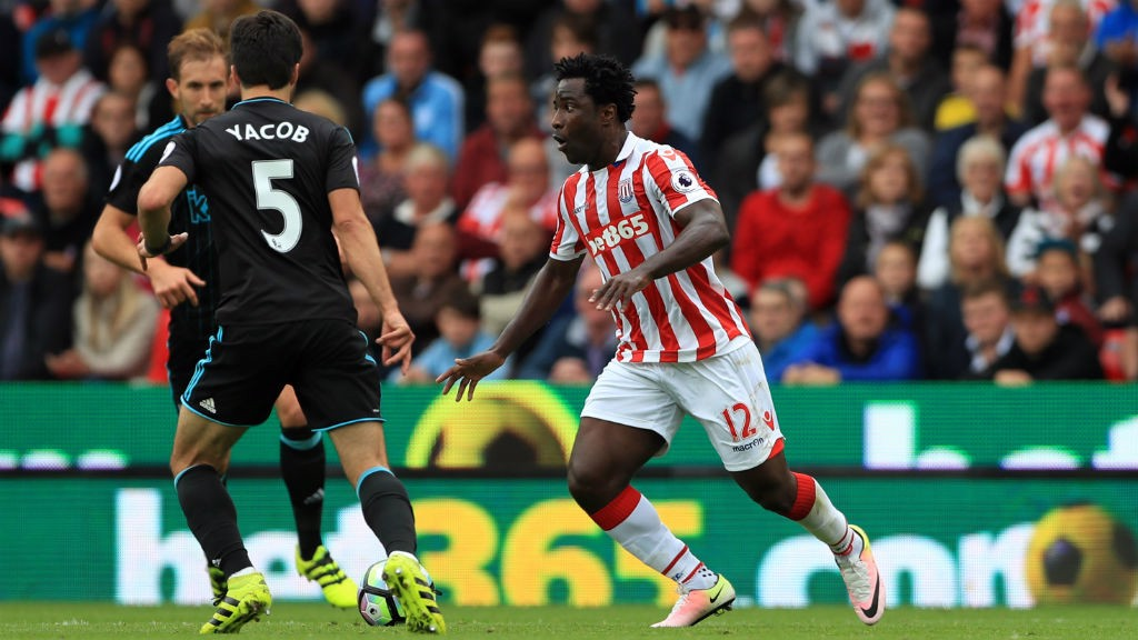 BONY: The on-loan City striker featured in Stoke's draw with West Brom at the weekend