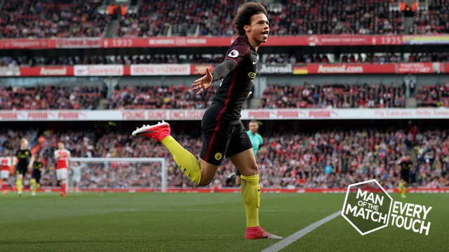 EVERY TOUCH: Relive Leroy Sane's man-of-the-match display against Arsenal in tiny detail