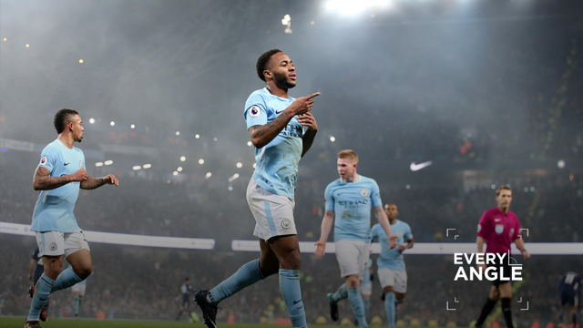 STERLING WORK: Raheem Sterling was at the double against Tottenham