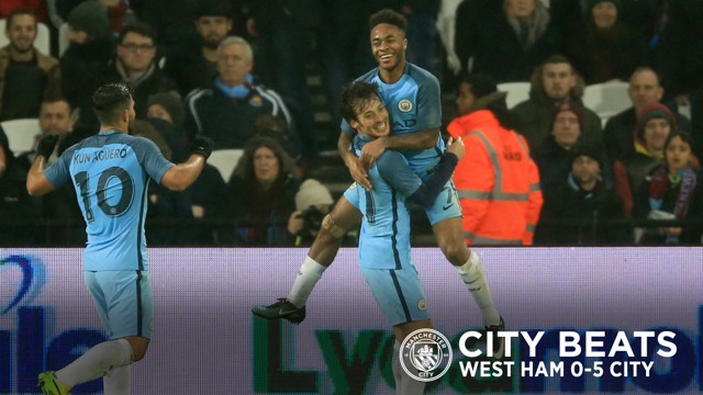 FIVE-STAR CITY: The Blues produced a scintillating display to demolish West Ham