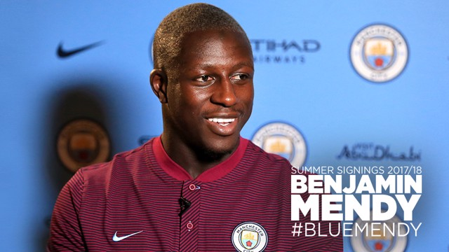 BLUE: Benjamin Mendy has signed for City from Monaco