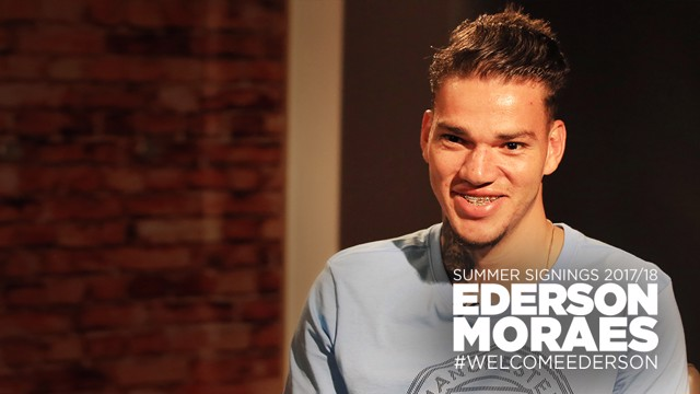 EDERSON: The Brazilian will officially join City on July 1.