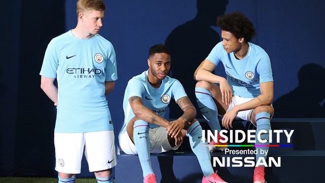INSIDE CITY 247: Check out what went on behind the scenes at the kit shoot for the 2017/18 home kit.