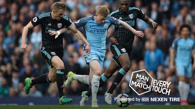 TOUCH OF CLASS: Kevin De Bruyne impressed on Tuesday in the win over West Brom