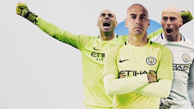 THANK YOU: 2016 Wembley hero, Willy Caballero, is set to leave Manchester City when his contract expires this summer.