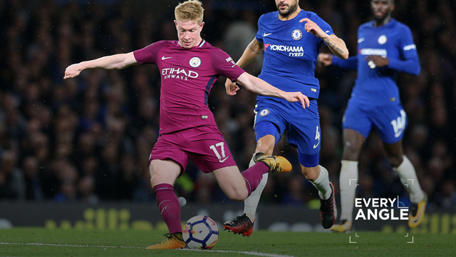 EVERY ANGLE: KDB nets against Chelsea