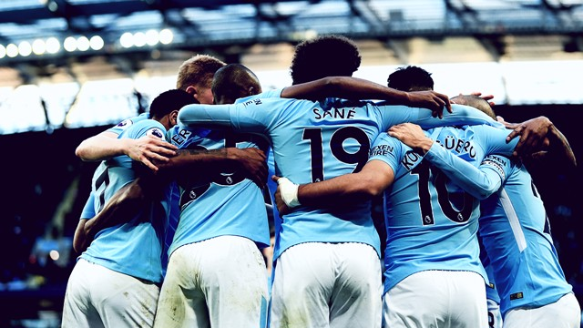 RAMPANT: City bagged an astonishing 102 Premier League goals in 2017
