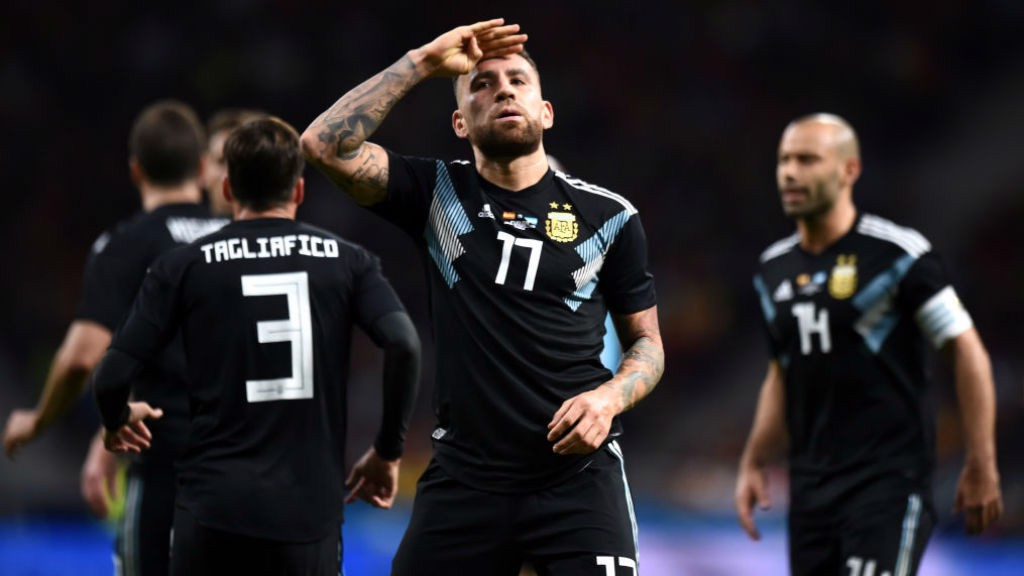 GENERAL ORDERS: Nicolas Otamendi is set to be a key figure for Argentina at the World Cup