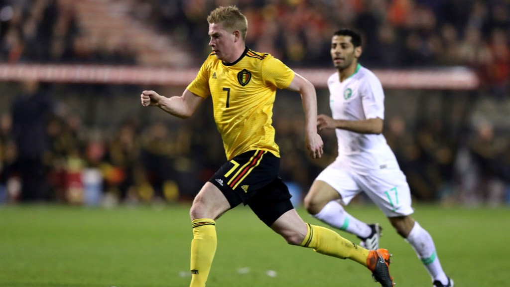 ON TARGET: Kevin De Bruyne scored for Belgium against Saudi Arabia.