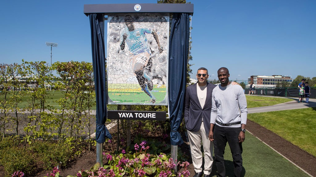 THANK YOU YAYA: Chairman Khaldoon Al Mubarak has unveiled a plaque in recognition of Toure's City career