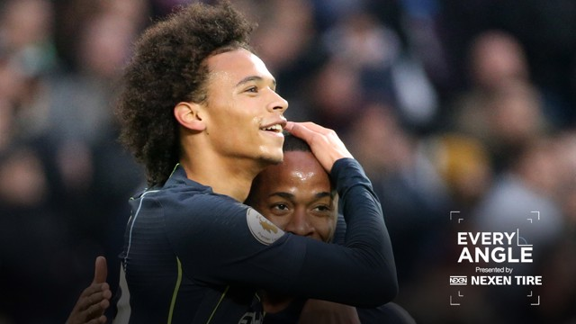 EVERY ANGLE: Leroy Sane and Raheem Sterling celebrate...